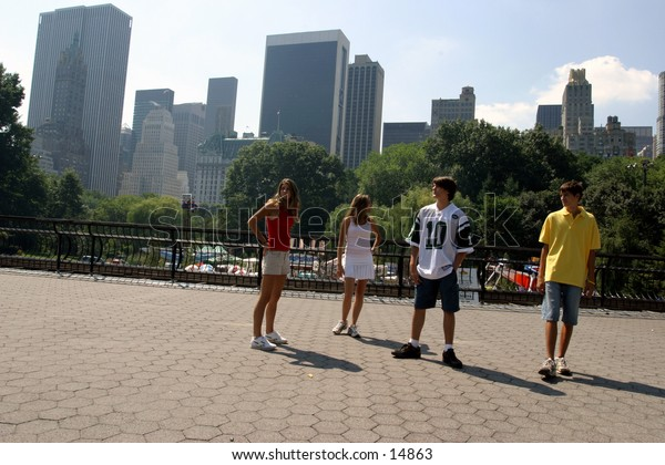 young people at park