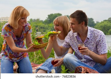 Young people at the picnic