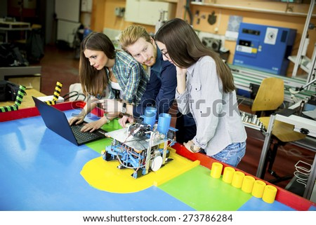 Young People Robotics Classroom Stock Photo Edit Now 273786284