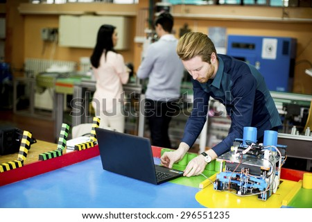 Young People Robotics Classroom Stock Photo Edit Now 296551235