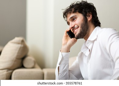 Young person talking on the phone
