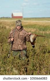 A young Pheasant Hunter in South Dakota