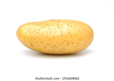 Young potato isolated on white background.