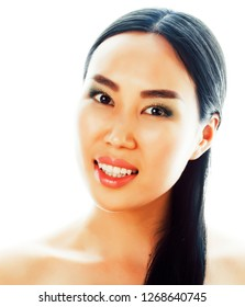 young pretty asian woman close up isolated spa, womans day conce