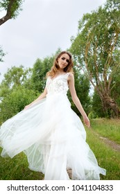 Portrait Young Pretty Woman Bride White Stock Photo (Edit Now ...