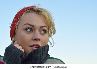 Young pretty woman portrait
