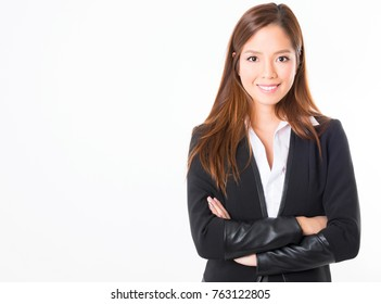 young professional asian woman dressed in smart outfit