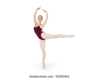 young professional ballerina
