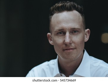 Young professional male head shot