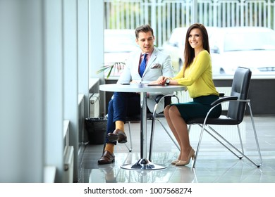 Young professionals work in modern office.Business crew working with startup