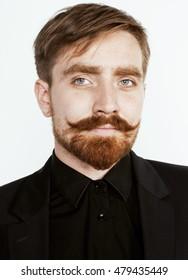 Male model ginger Success for