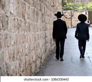 Young Religious Jewish Men in Jerusalem