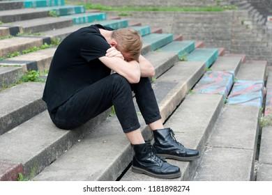 Young sad man