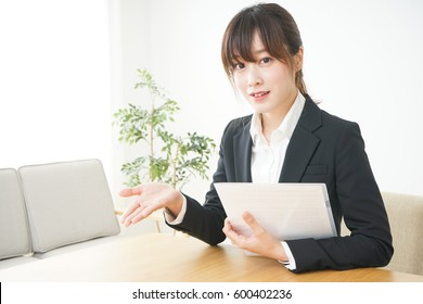 Young sales woman with smile