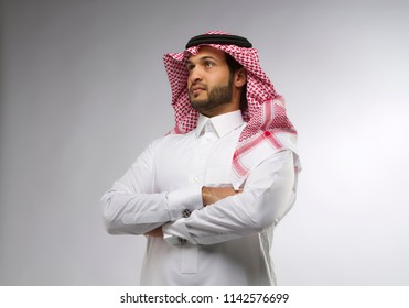 A young Saudi skilled professional engineer working planning in Saudi Arabia Middle East Gulf