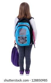 Young schoolgirl from behind