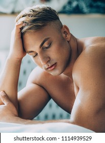 Young sexy muscular man