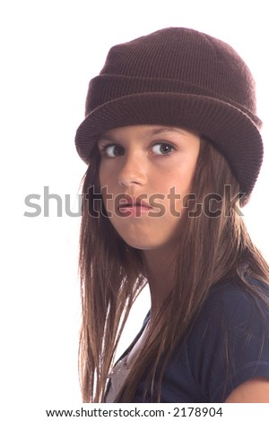 Young Skater Girl Blue Shirt Brown Stock Photo (Edit Now) 2178904 ... 68a67682b