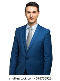 Young smiling businessman portrait