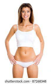 Young smiling fitness woman