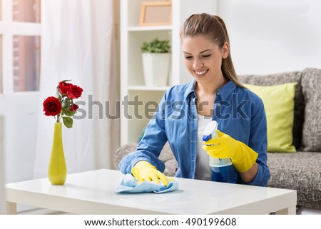 Apologise, Young girl cleaning house