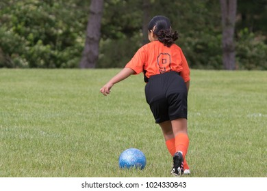 Young Soccer Player in the Field