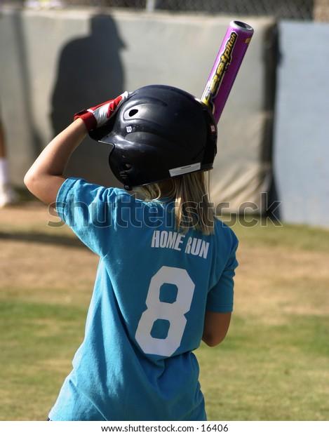 Young Softball Player