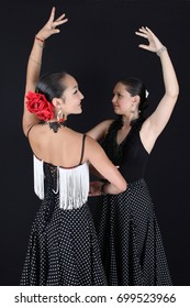 Young Spanish Flamenco dancers at the dance studio