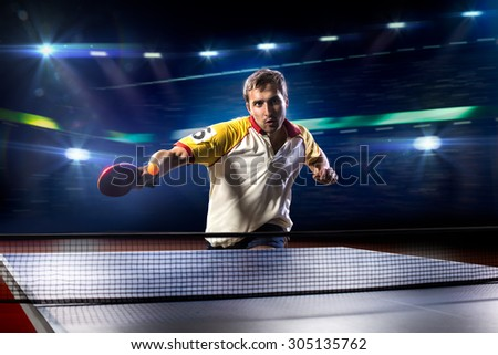 young sports man tennis