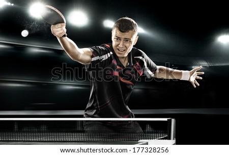 young sports man tennisplayer