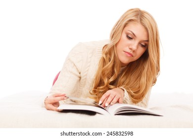 Young student reading books