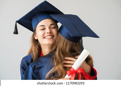 Young students graduating from university