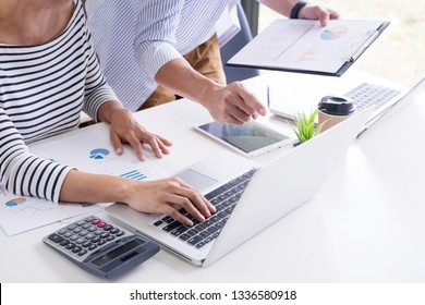 young students relax, preparing exams in home, colleagues working on their small business  meeting, Brainstorming on a new project with Working team work Concept