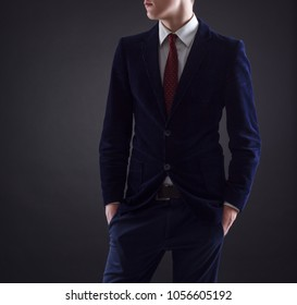 Young stylish jacket and tie. Men's fashion.