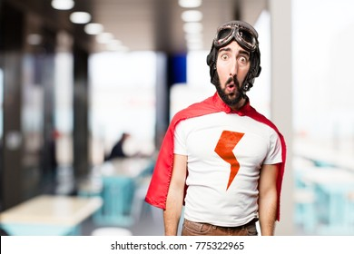 young super hero confused expression