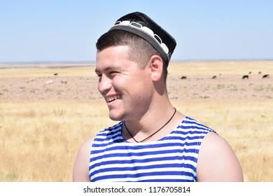 Young Tajik with a skullcap