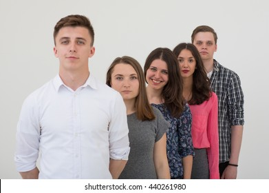 young team of professionals, photo with depth of field, photo with depth of field