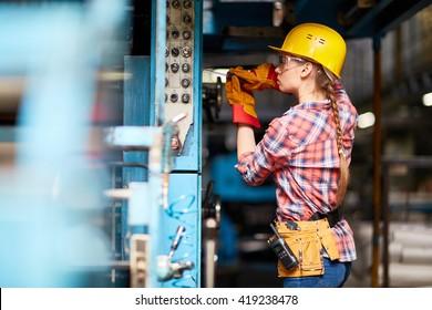 Young technician