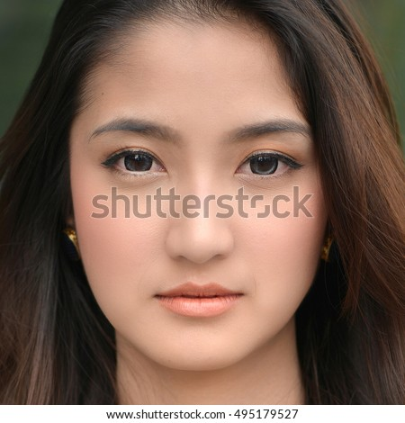 Think, that asian teen girl face close up