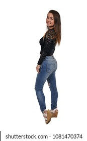 Young teenage Beautiful Asian Woman in a pose