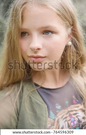 Blue eyes blonde teen