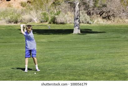 Young Teenage Golfer