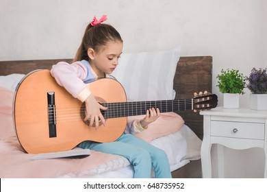 Young teenager girl alone at home childhood