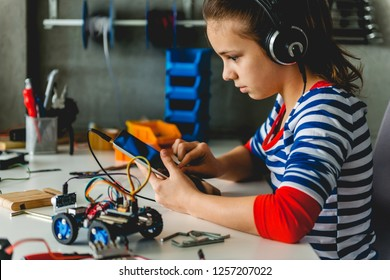 Young teenager with headphones