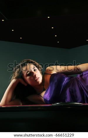 Young Purple Dress