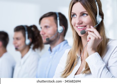 Young telemarketers are saling lots of products