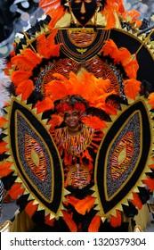 Young tiger King of the Band at the Junior Caribana Parade in Toronto, Ontario, Canada - July 19, 2008