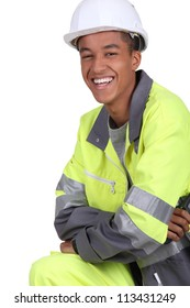 A young traffic guard