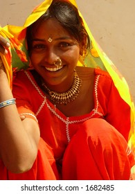 a young village girl in india