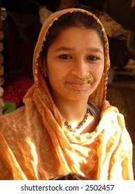 a young village girl posing in india